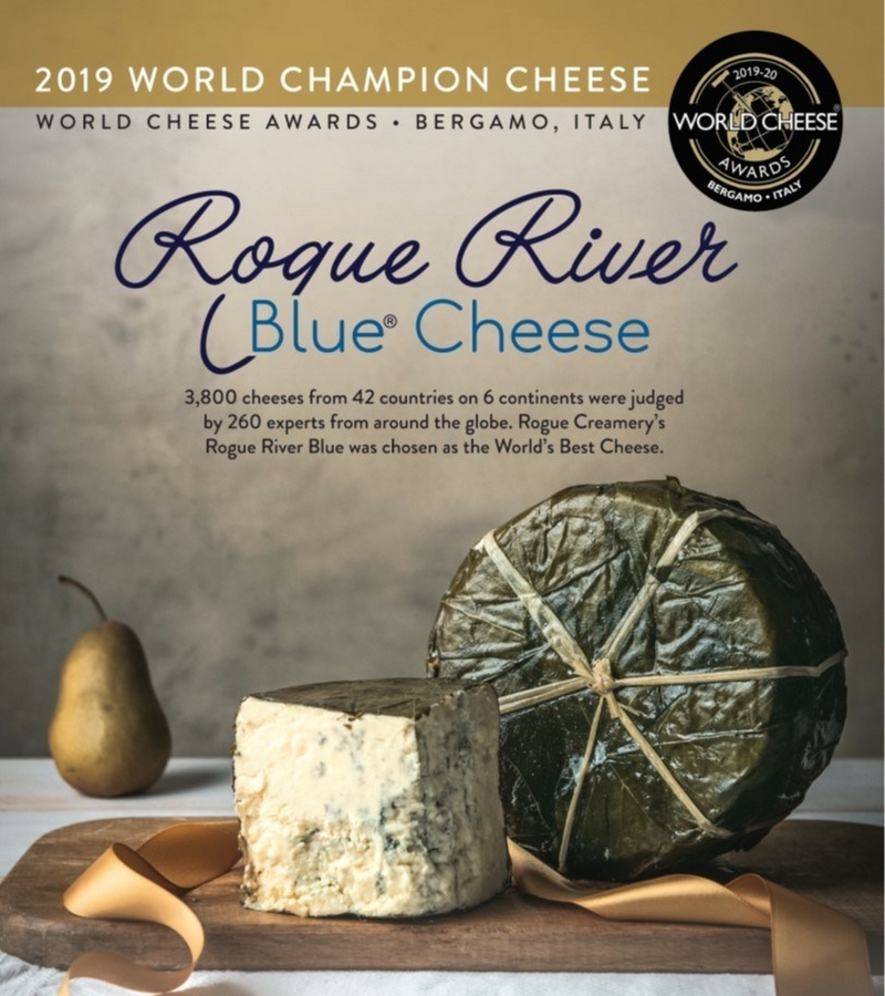 Rogue River Blue Cheese won World's Best Cheese 2019