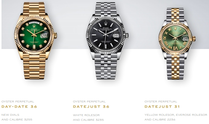 Rolex new 2019 luxury watches - Baselworld 2019 - Rolex Date-Date 36, Rolex DateJust 36 and Rolex DateJust 31