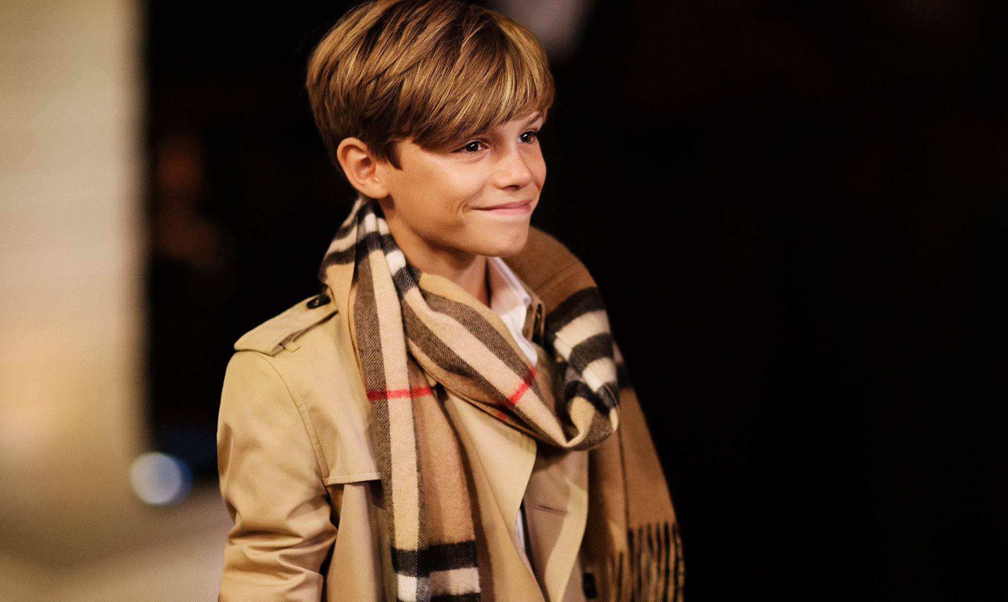 Romeo Beckham Stars In Burberry S Festive Campaign