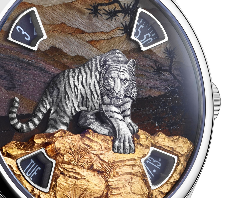 SIHH 2019 - NEW Les Cabinotiers Mécaniques Sauvages watches - Tiger - details