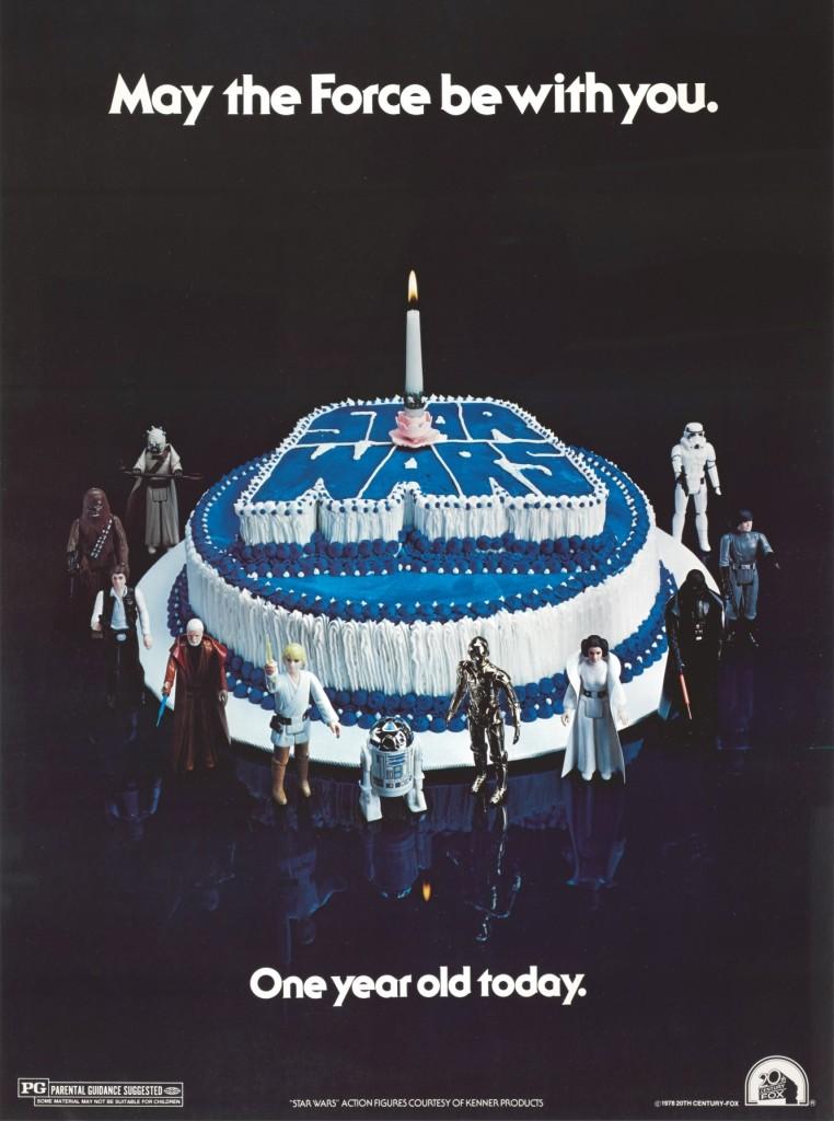 STAR WARS HAPPY BIRTHDAY POSTER, 1978