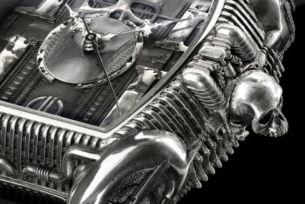 Strom In Memoriam HR Giger sculpture watch. A tribute to the great genius of the Swiss artist, HR Giger