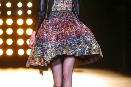 Too cool for school: Saint Laurent's signature look is out in force