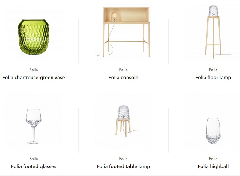 Saint-Louis Folia Collection - items from the collection