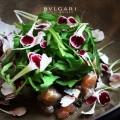 Salted mackerel, burnt lemon, pickles, nasturtiums_bulgari hotels and resorts milano