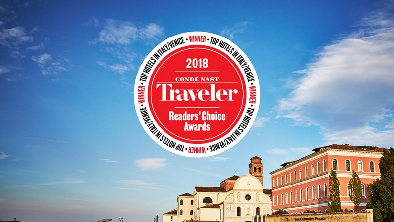 San Clemente Palace Kempinski voted as Number 1 Hotel in Venice-Italy by Condé Nast Traveler's 2018 Readers' Choice Award