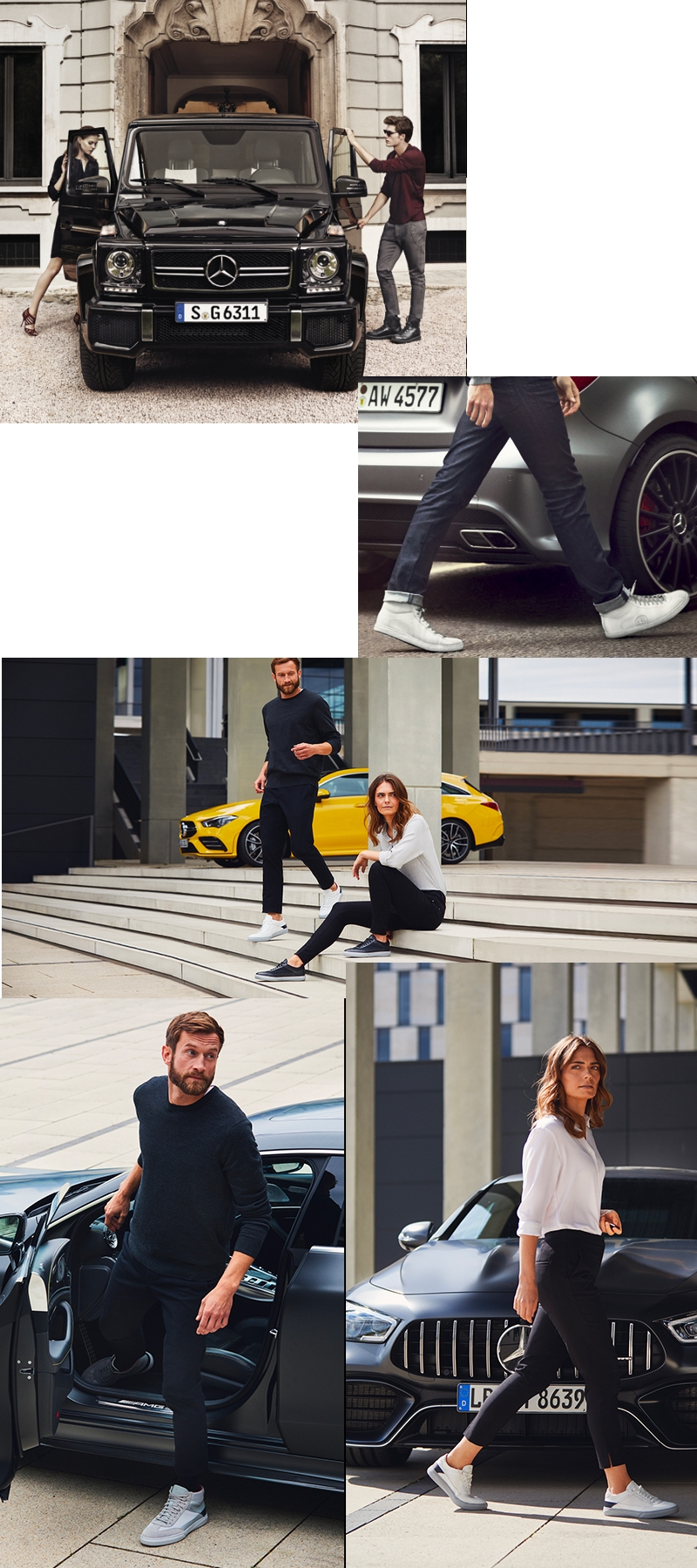 Santoni for Mercedes-Benz AMG sneker collection 2019 - collage