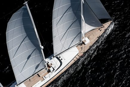 The world's largest aluminium sailing yacht is now on her way to the Mediterranean