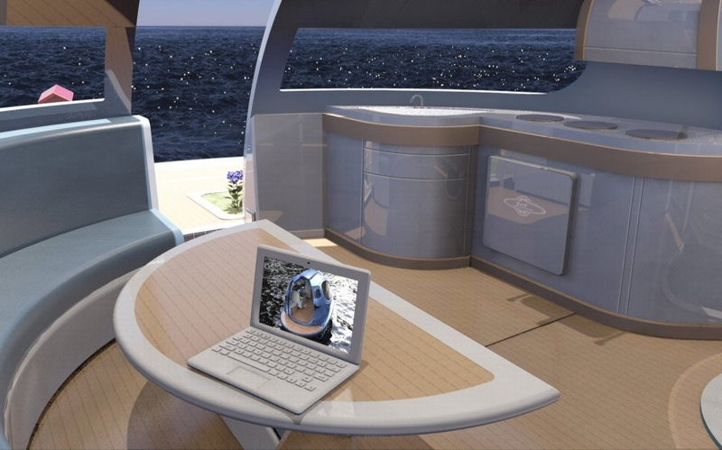 SeaJetCapsule UFO is intended for living floating house-