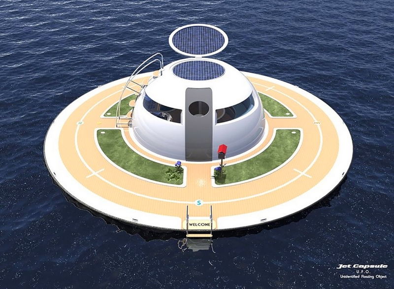 SeaJetCapsule UFO is intended for living floating house concept -2017