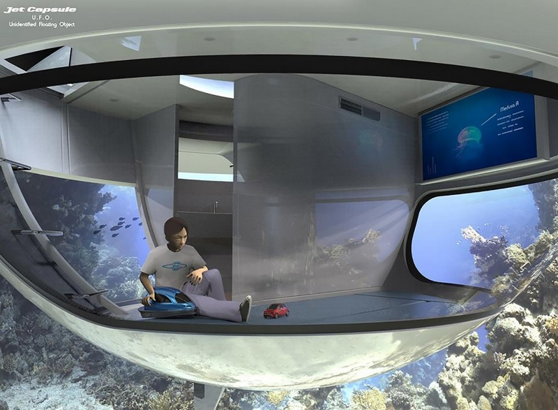 SeaJetCapsule UFO is intended for living floating house