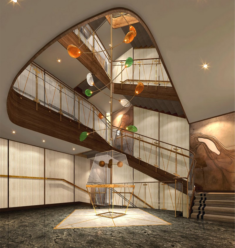 Seabourn expedition ships - Atrium renderinng