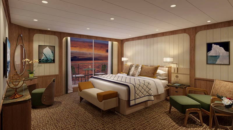 Seabourn expedition ships - Signature Suite (Bedroom)