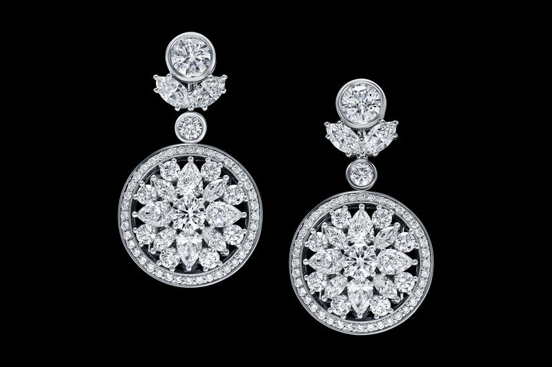 Secret Wonder by Harry Winston, Reversible Diamond, Sapphire and Aquamarine Earrings-