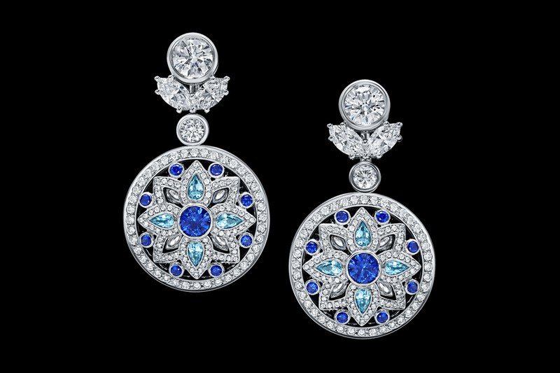 Secret Wonder by Harry Winston, Reversible Diamond, Sapphire and Aquamarine Earrings
