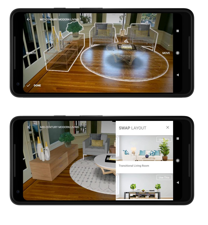 See a house transformed into a home, their home, through the magic of AR