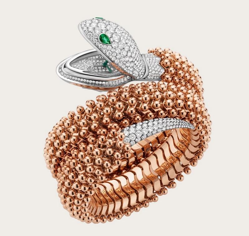 Serpenti Pallini High Jewellery secret watch by Buvlgari-2018