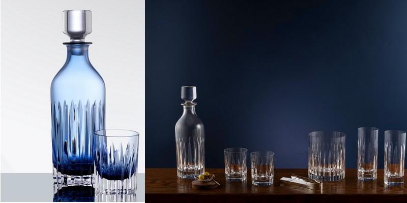 Shona Marsh - Facets Blue Decanters sets for BONADEA