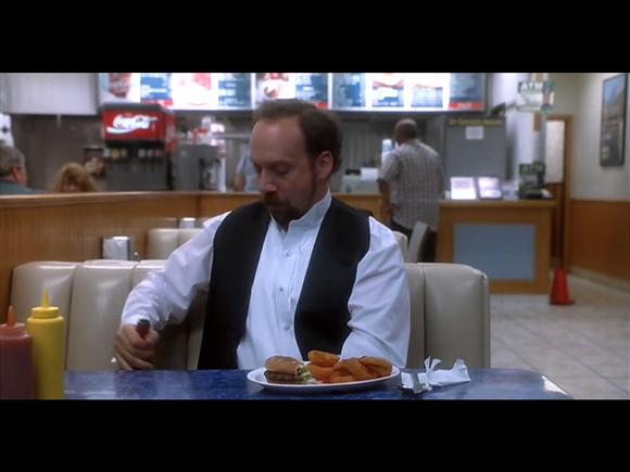 Sideways, Miles, played by Paul Giamatti, drinks a 1961 Chateau Cheval Blanc from a paper cup