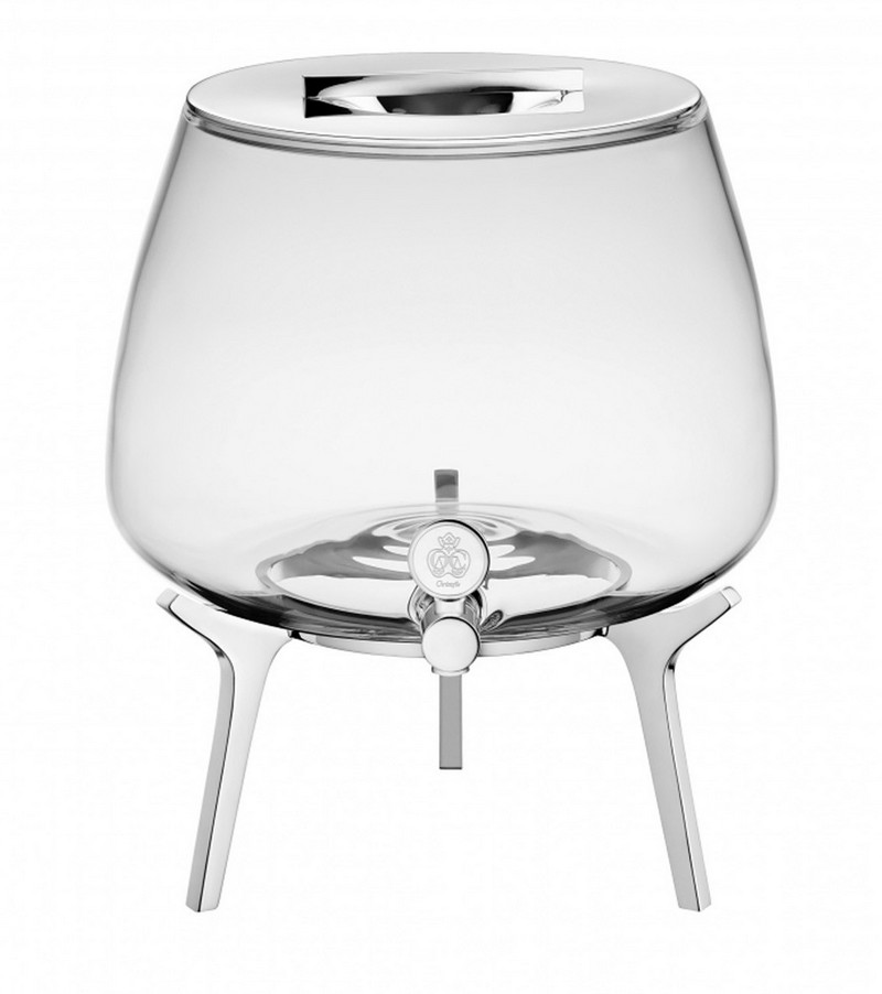 Silver Plated Beverage Dispenser with Spigot and Stand