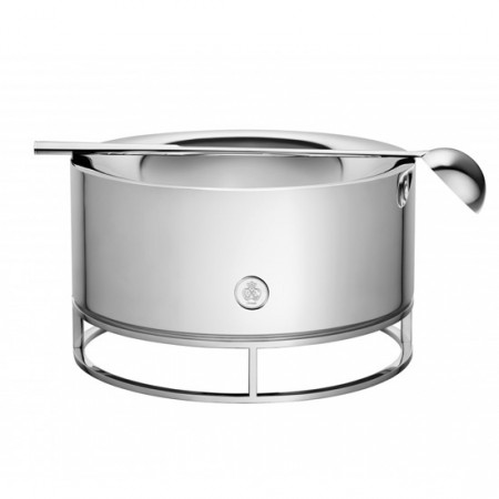 Silver Plated Punch-Soup Bowl with Ladle