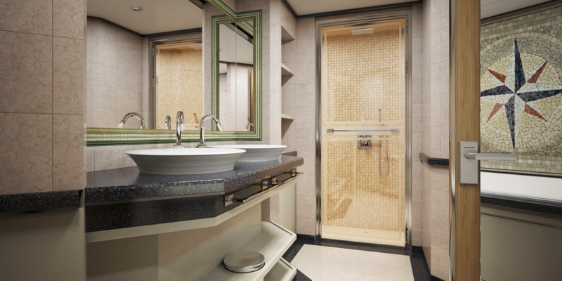 SilverMuse cruise liner - Royal Suite Bathroom