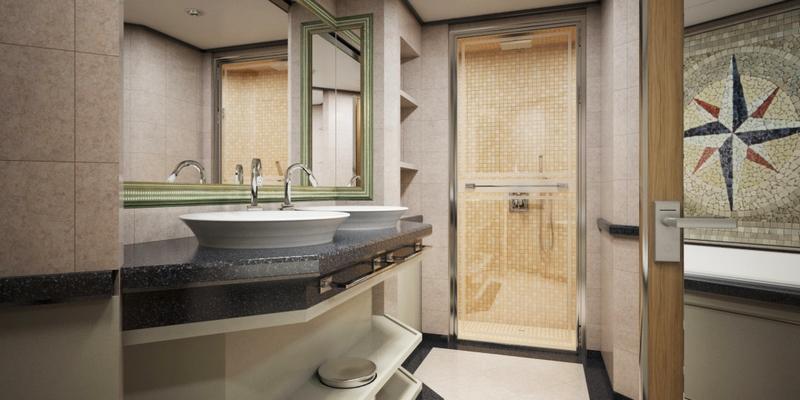 SilverMuse cruise liner - Royal Suite Bathroom