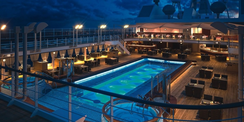 SilverMuse cruise liner - polo deck and jacuzzi