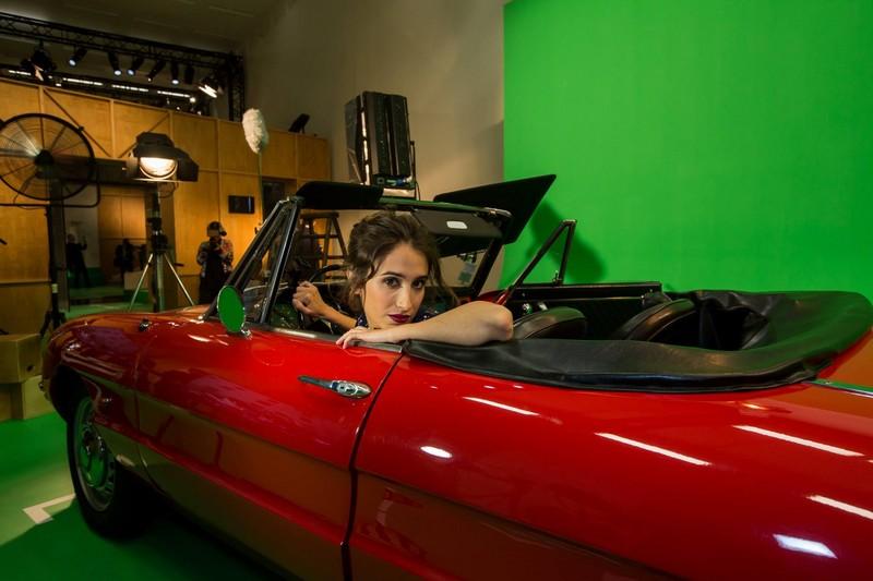 Silvia D ' Amico at Fendi Studios