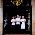 Simone Zanoni, David Bizet, Christian Le Squer at Four Seasons Hotel George V, Paris