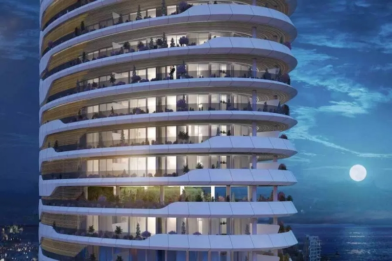 Sixty6 Tower by Pininfarina in Limassol, Cyprus, 17-floors residential tower designed by Pininfarina for Nikhi Group-2021