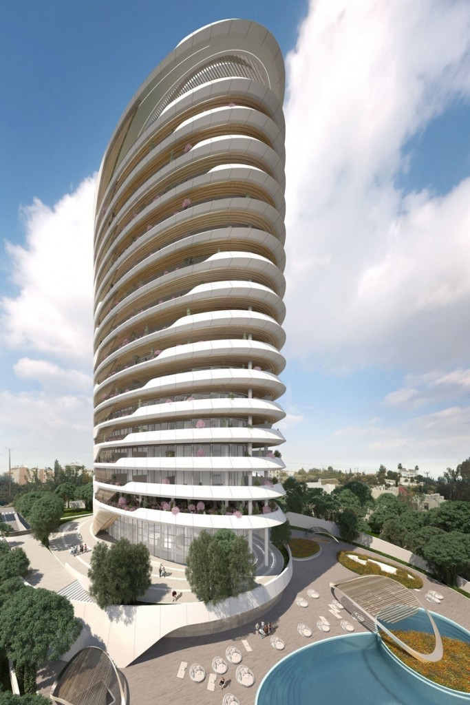 Sixty6 Tower by Pininfarina in Limassol, Cyprus, 17-floors residential tower designed by Pininfarina for Nikhi Group