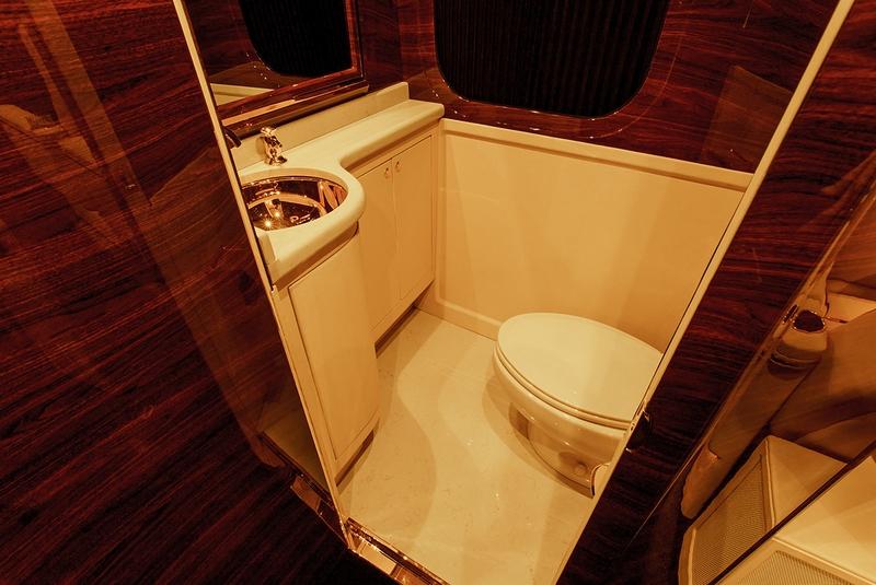 Sky Master restroom by Lexani Motorcars