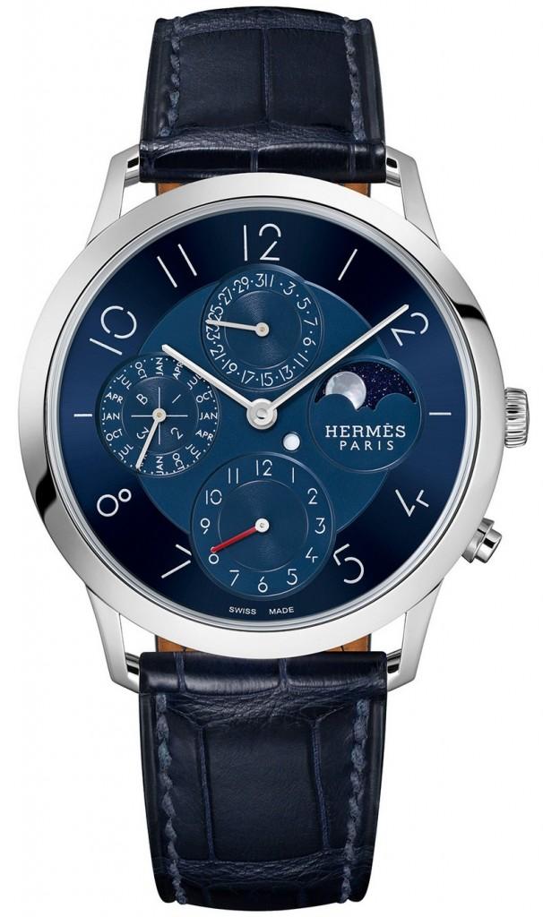 Slim d'Hermès Quantième Perpétuel Platine watch