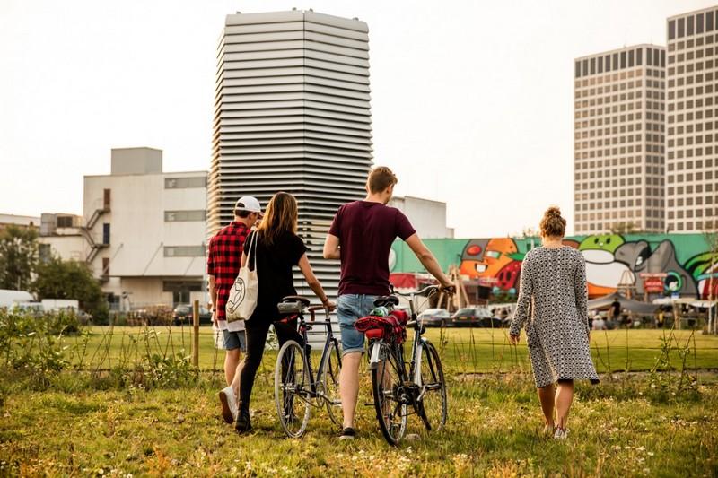Smog Free Tower & Bicyles