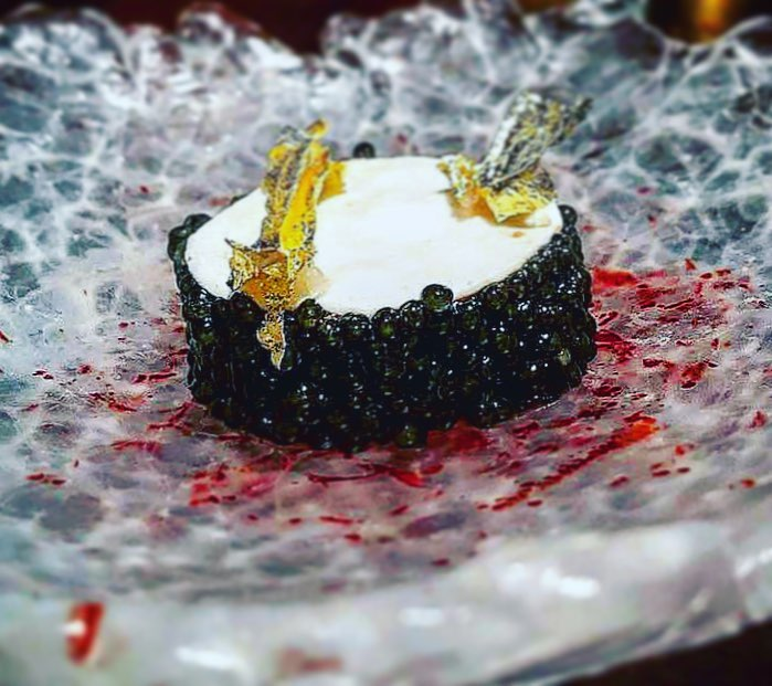 Smoked Caviar, Lotte Liver, lemon