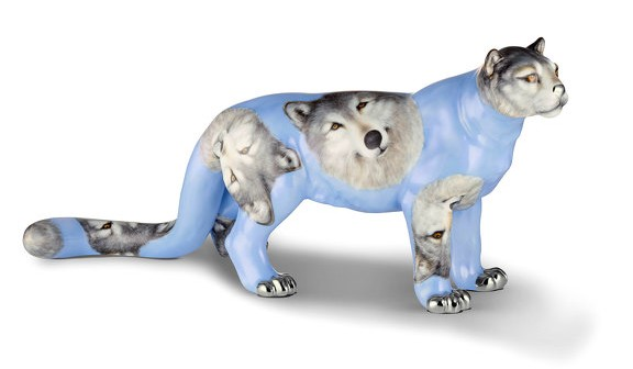 Snow Leoparde Figurine