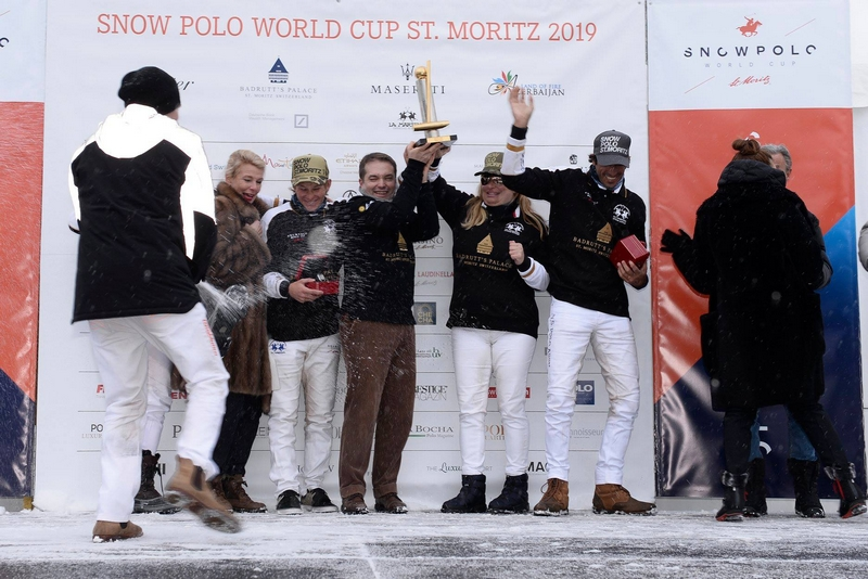 Snow Polo World Cup St Moritz 2019 - And the Cartier Trophy goes to...team Badrutt's Palace Hotel