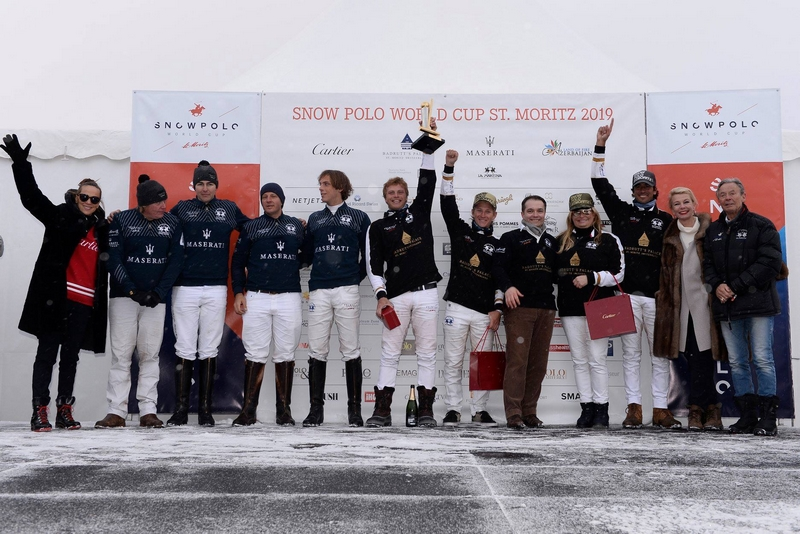 Snow Polo World Cup St Moritz 2019 - Prize-giving ceremony after the final - Maserati vs Badrutt's Palace Hotel