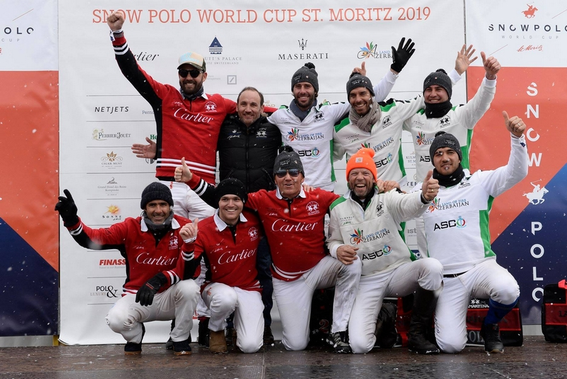 Snow Polo World Cup St Moritz 2019 - Prize-giving ceremony of the semi final - Azerbaijan Land of Fire vs Cartier