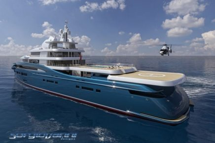 Sorgiovanni's new Exploration Yacht comes with a certified ice-breaker reversed bow to achieve extensive world travels