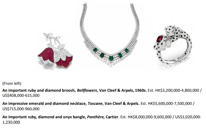 Sotheby's Hong Kong Magnificent Jewels and Jadeite Spring Sale 2019-