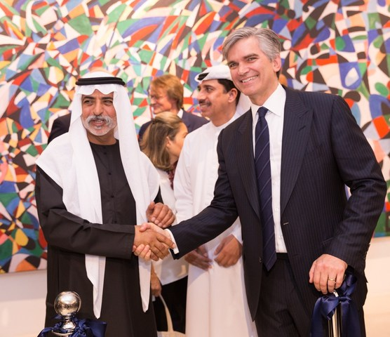 Sotheby's CEO Tad Smith celebrate the opening of Sotheby's Dubai