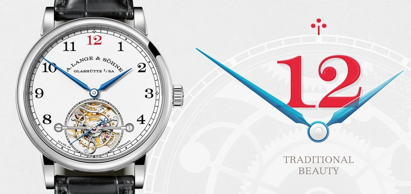 Special edition of A. Lange & Söhne's first tourbillon watch with stop seconds and ZERO-RESET