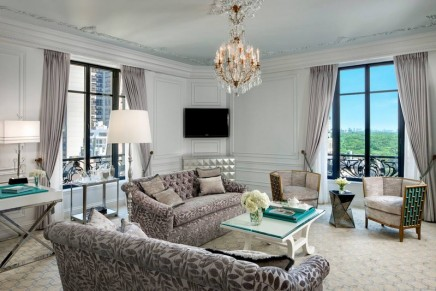 What's not to love about Tiffany Blue and a Central Park view? Tiffany Suite — at The St. Regis New York.