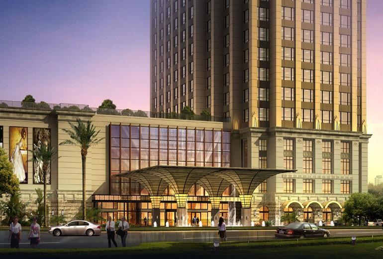 St. Regis Shanghai Jingan Hotel Entrance Renderings