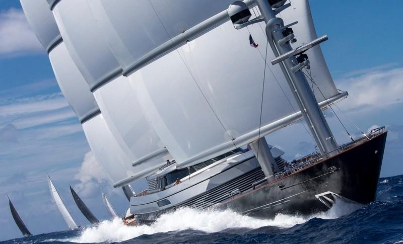 St.Barths Bucket Regatta yachts - Maltese Falcon Also gracing the fleet in St Barths