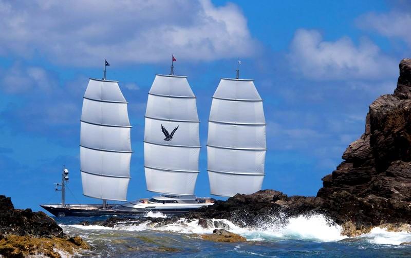 St.Barths Bucket Regatta yachts _ Perini Navi Maltese Falcon superyacht