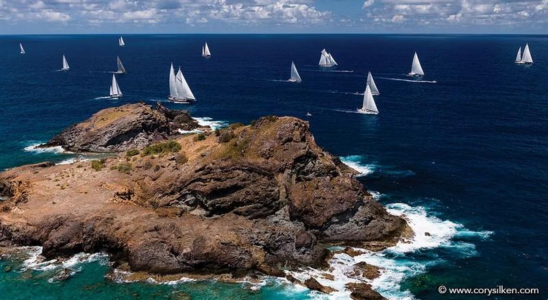 St.Barths Bucket Regatta yachts in action-