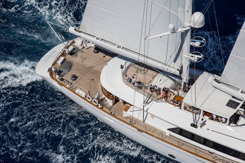 St.Barths Bucket Regatta yachts in action- Rosehearty always looks forward to the Bucket -